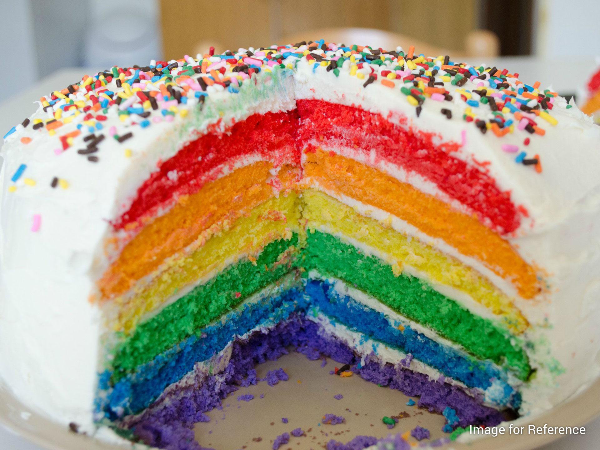 Paris Cafe Ka Rainbow Cake Paris Cafe Kolkata Taste Of City