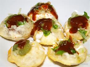 canape chaat recipe